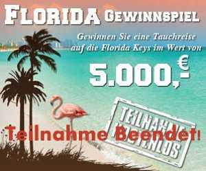 Florida Reisegewinnspiel beendet
