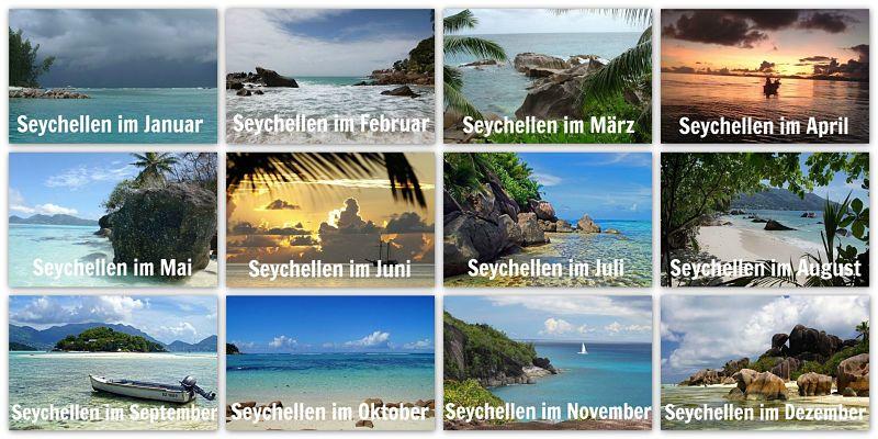 Seychellen Wetter von Januar bis Dezember