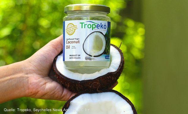 Souvenirs von den Seychellen Kokosnußöl